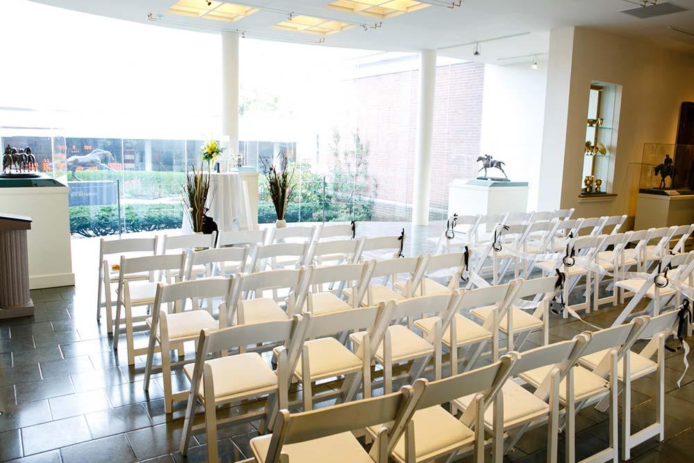 Chairs setup for small wedding